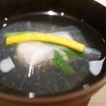 新ばし 星野 - 車海老の薄氷椀