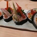 かまた寿司 - 全部載っけもり太巻き
