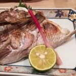 かまた寿司 - ランチで鯛のかま