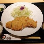 とんかつ むら井 - 料理写真:トンカツ(ロース)定食 1400円
