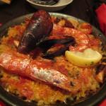 Spain bar Sebasuke - 漁師のパエリア2人前