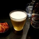 焼肉丼 たどん - キムチ、瓶ビール:350円
