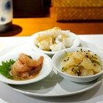 和中華と麺 丹陽 - 前菜3種