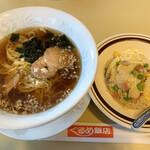 ぐるめ飯店 - 料理写真:半チャーハンセット