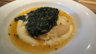アロッサ 銀座店 - 白身魚のチーズ焼きスープ仕立て