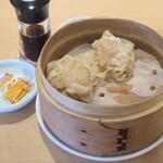 らぁ麺 はやし田 - 大山鶏の肉焼売2個250円