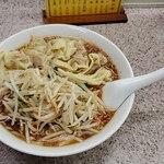 喜楽 - 上空から もやしワンタン麺ねぎ大