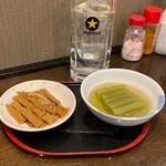 なごみ - メンマ+ふき煮+酎ハイ