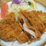 とんかつ うちの - ・「上ロース定食(¥1410→¥990)」のアップ。