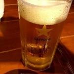 魚大将 うまかっぺや - ドリンク写真:まずはビール 2012/07