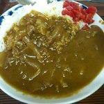 食事処 三平 - 有難い量の半カレーです(2012年8月)。