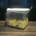 小平うどん - おろし生姜が入れ放題です。