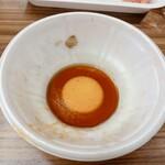 精肉店直営 近江牛直売所 - 熱すぎる肉で穴があくので注意