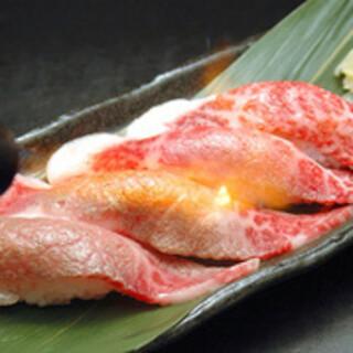 牛肉炙り寿司