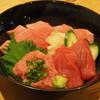 寿司バル 和 - 料理写真:【すくも丼】高知県宿毛湾から直送のお魚2種とネギトロの3色丼。