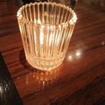 カフェ&ブックス ビブリオテーク - キャンドルの灯りがいい感じです