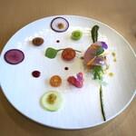 テロワール - 料理写真:◆大地・・ビジュアルが美しい。八女茶や豆乳で作ったソースで。