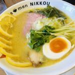 ラーメンにっこう - 鶏白湯(塩)+レモン