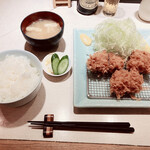 Ponchiken - 「特ヒレ豚カツ定食 2540円」