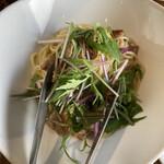 ピアチェーレ - 若鶏と水菜のパスタ