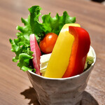 串揚げと和食 もりもと  - 有機野菜のスティック