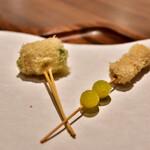 串揚げと和食 もりもと  - [左]のどぐろ│[右]銀杏