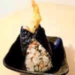 hyakumisensai - 干し海老とゴマと青菜の混ぜご飯