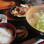 なごみ野 - 焼きホルモン定食 1,200円