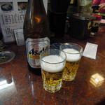 近江町市場寿し - 中瓶ビール540円(税別)