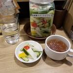 神田たまごけん - 先行・スープなど。