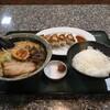 ra-mentempuu - 料理写真:味噌ラーメン(ミニ) ごはん、餃子のセット