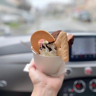 カテリーナ - 料理写真:ジャンドゥーヤのパルフェ。車の中で食べよう♡