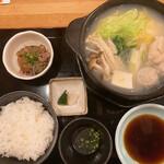 炭火焼鳥と水炊き 五郎一 - 博多水炊きとりゅうきゅう定食 980円