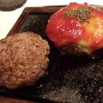 14466025 - 牛ハンバーグステーキ(プレーン、トマトチーズ)