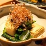 創和堂 - 巻き湯葉と青菜のお浸し