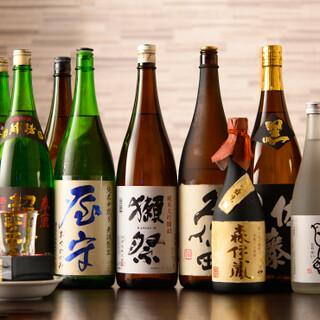 魚料理と相性の良い、日本酒や焼酎を豊富にご用意しています!