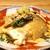 """創和堂 - 料理写真:付き出し  いつも出される豆乳と葛粉で作った """"呉豆腐"""" と旬菜のおひたし"""