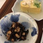 日本料理 瀬戸内 - 瀬戸内産真鯛の出汁巻き玉子 瀬戸内産ひじき煮
