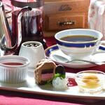 奥琵琶湖マキノ グランドパークホテル レストラン竹生 - デザートグレードアップ