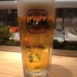 江戸 東京 寿し常 - 生ビール:530円
