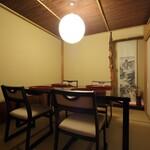 卓楽 - 「鷹ヶ峯」2~6名様までのお座敷テーブルの個室です。