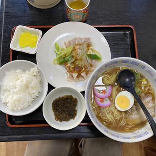 笹月 - 料理写真:ラーメン定食 900円