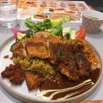 長崎トルコライス食堂 - スタンダードトルコライスのセット1,650円