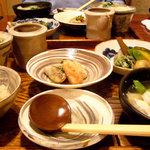 そばきり典座 - 甘鯛の鍋としょうがご飯のセット、せいろ付き 1500円(かけそばだと1600円)