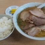 ほうれんそう - チャーシュー麺とライス