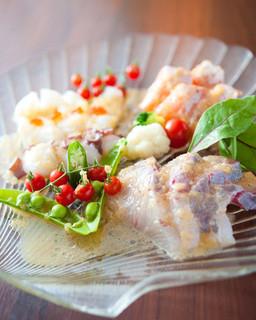 ペスカ - 『本日の鮮魚のカルパッチョ』  その日の鮮魚で作ります!