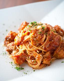 ペスカ - 『豚バラ肉のトマトスパゲティー』