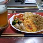 好味来 - ビールの裏に鶏唐(^^)
