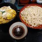小諸そば - 満腹 ひれカツ丼とお蕎麦 セット 700円