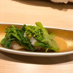 寿司 藤やま - 菜の花と貝柱の酢味噌和え